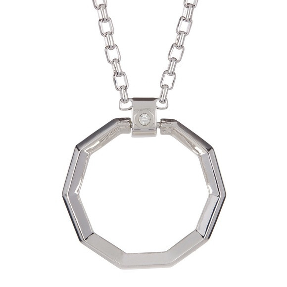 octagon pendant medical forallgifts engravable shape personalized id product alert